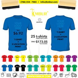 Tshirt+2prints KMBUR Deal