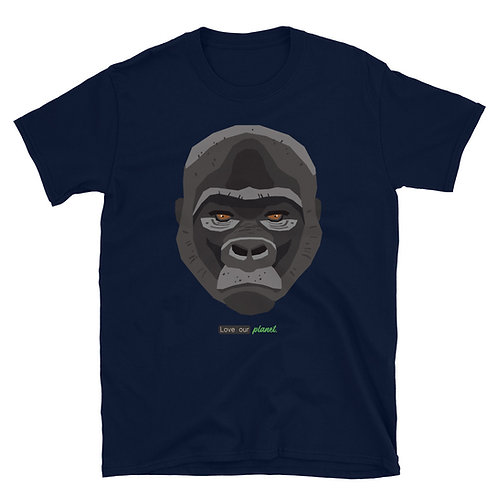 Love our planet / Gorilla. - Short-Sleeve Unisex T-Shirt