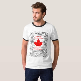 Canada 150th Men's T-shirt with black trim