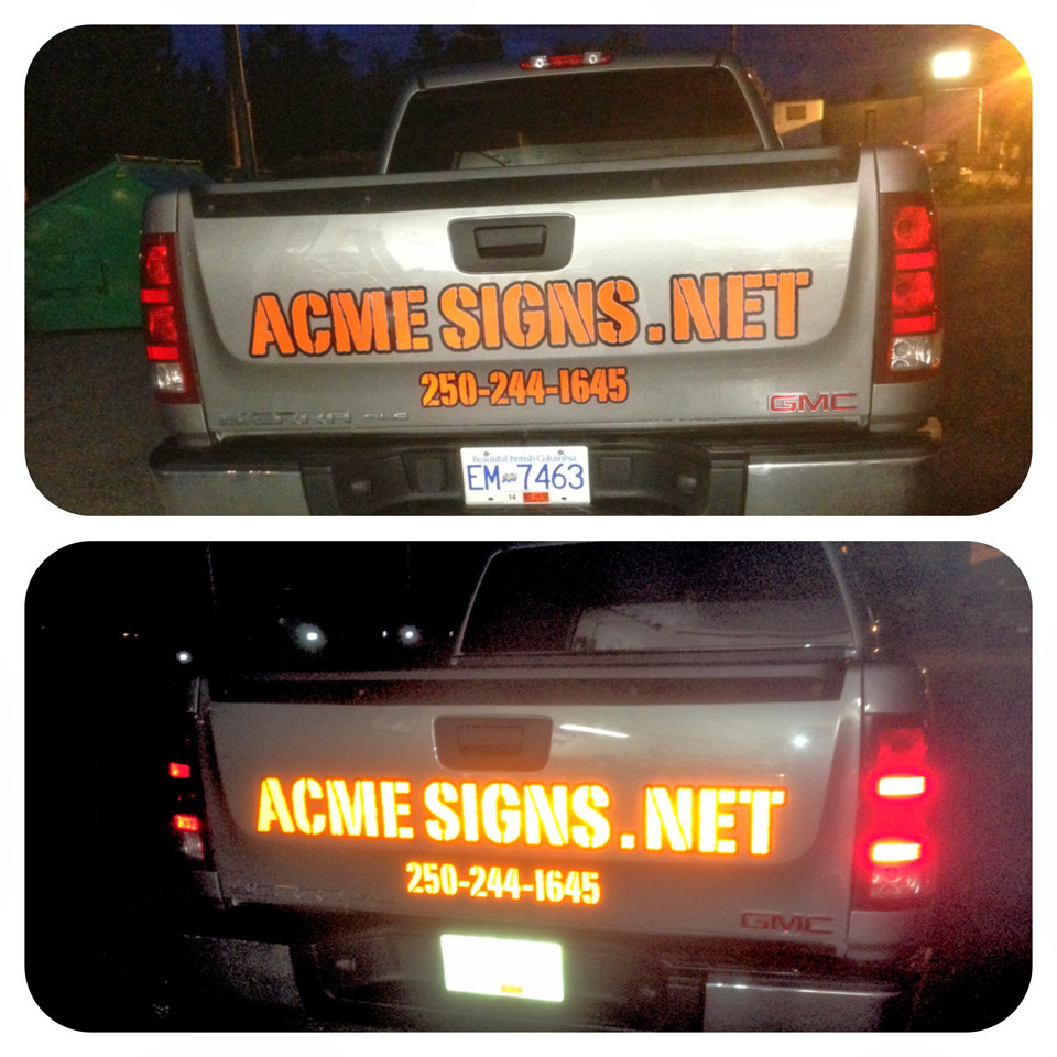 Vinyl reflected by Acme Signs