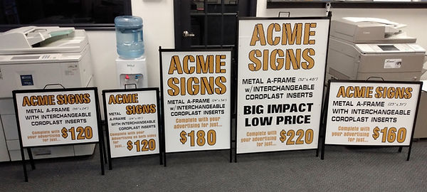 Metal Sandwich Boards from Acme Signs