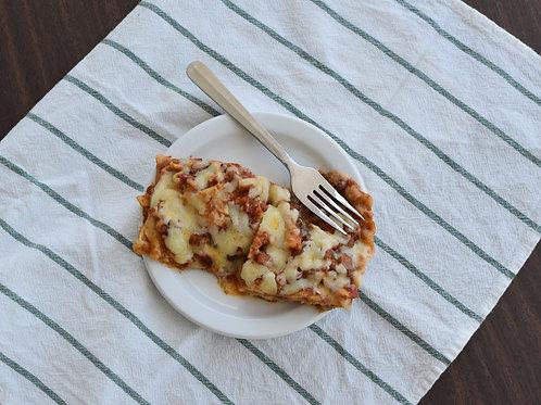 Lasagne aux lentilles et légumes