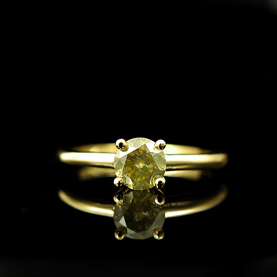 "Pierścionek ""Diamentowe złoto"""