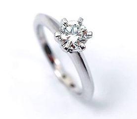Perfect 0,67 ct VVS1 diamond solitaire r