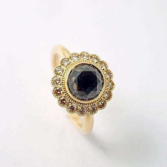 Unikatowy pierścień ROZETA