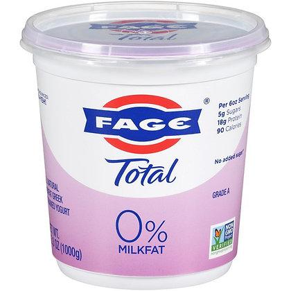 Fage Total Natural Nonfat Greeg Strained Yogurt, 0% Milk Fat