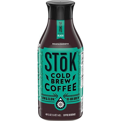 48 fl oz Stōk Black Cold-Brew Coffee | $0.15/floz