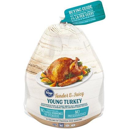 Kroger Frozen Young Whole Turkey