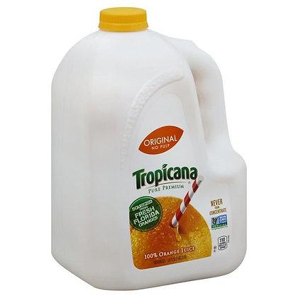 Tropicana No Pulp Orange Original, 100% Juice