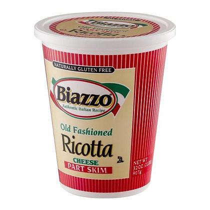 32 oz Biazzo Old Fashioned Ricotta Cheese, Part Skim | $0.23/oz