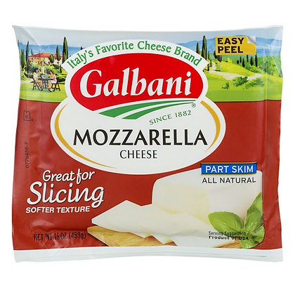 16 oz Galbani Cheese, Mozzarella, Part Skim | $0.49/oz