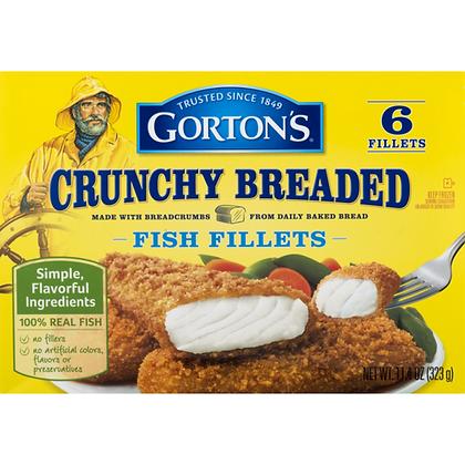 11.4 oz box Gorton's Crunchy Breaded Fish Fillets - 6ct Frozen | $8.44/lb