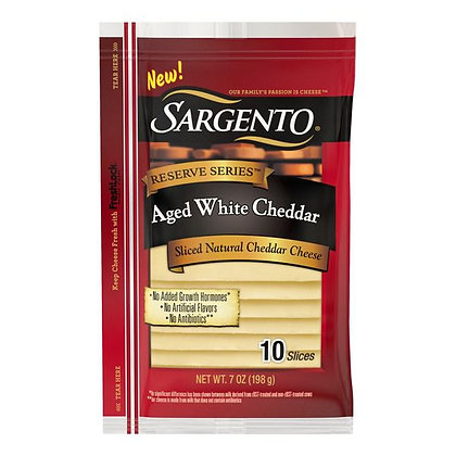 7 oz Sargento Reserve Series Sliced Aged White Natural Cheddar Cheese | $0.71/oz