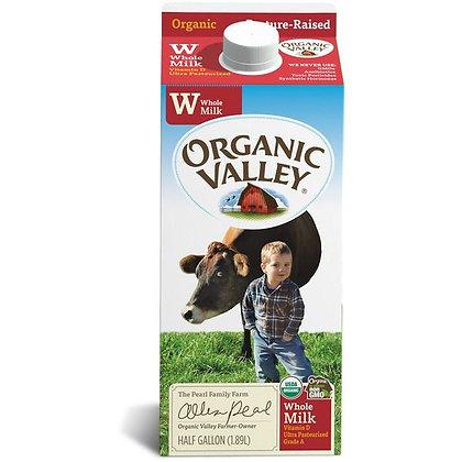 Organic Valley Ultra Pasteurized Lowfat Organic Milk, Whole