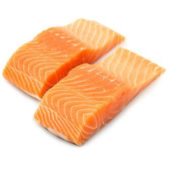 Atlantic Salmon Fillets Skinless Farm-Raised Fresh | $7.99/lb
