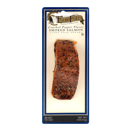 4 oz Echo Falls Atlantic Smoked Salmon Cracked Pepper All Natural | $31.96/lb