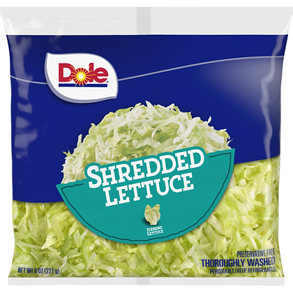 Dole Iceberg Shredded Lettuce - 8 oz | $0.25/oz