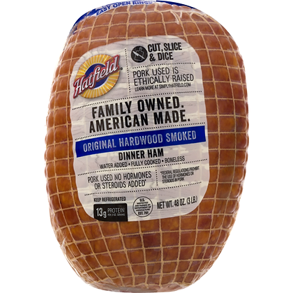 48 oz Hatfield Dinner Ham Hardwood Smoked Original Fully Cooked   $5.00/lb
