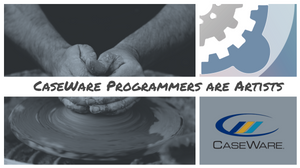 Image of CaseWare logo/sculptor/and part of Gray CPAs logo