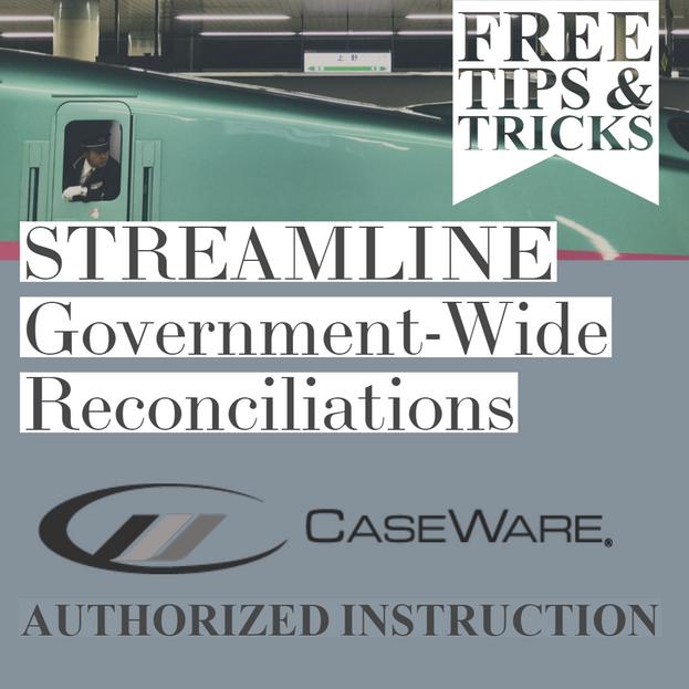Tips & Tricks - STREAMLINE Gov-Wide Reconciliations