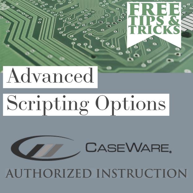 Tips & Tricks - Advanced Scripting Options