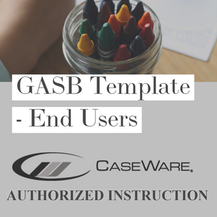 CaseWare's GASB Financials template | End Users