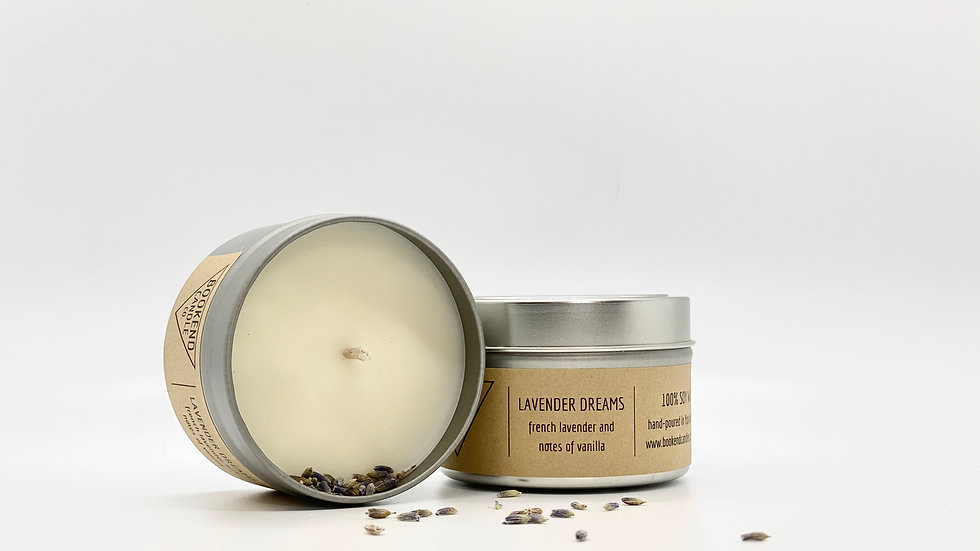 Lavender Dreams Soy Candle with Lavender Buds