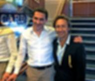 Stéphane Bern et le magicien Alex Goldfire
