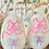 """Thumbnail: Hand-Painted 8"""" Wood Easter Egg"""