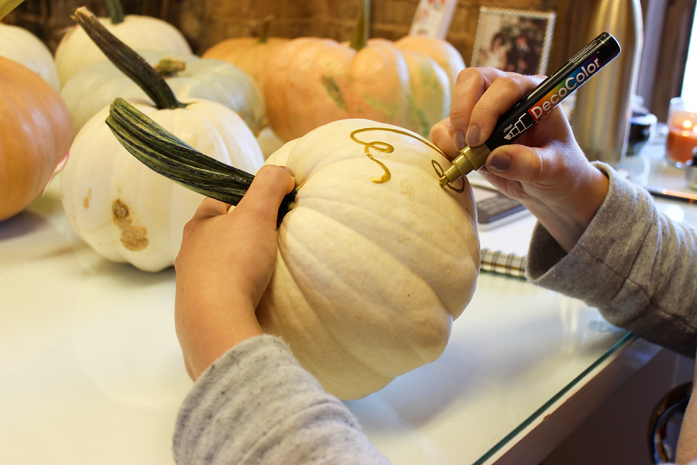 How To: DIY Calligraphy Pumpkin! By Beth Hunt Calligraphy