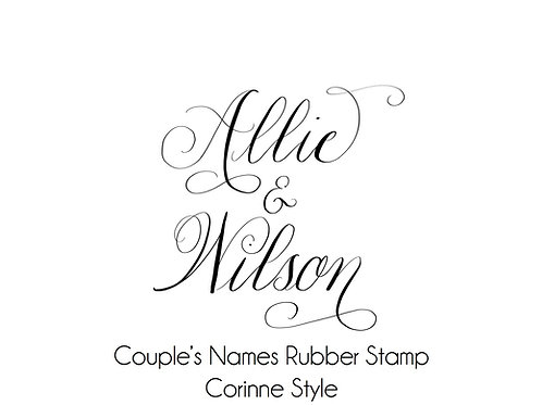 """Calligraphy """"Couples Names"""" Personalized Stamp"""