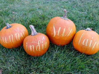 It's Fall, Y'all! We're Loving Calligraphy on Pumpkins