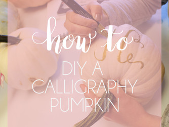 How To: DIY Calligraphy on a Pumpkin