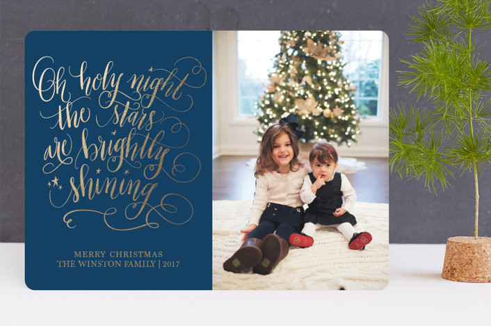Beautiful Christmas card design by Beth Hunt Calligraphy on Minted!