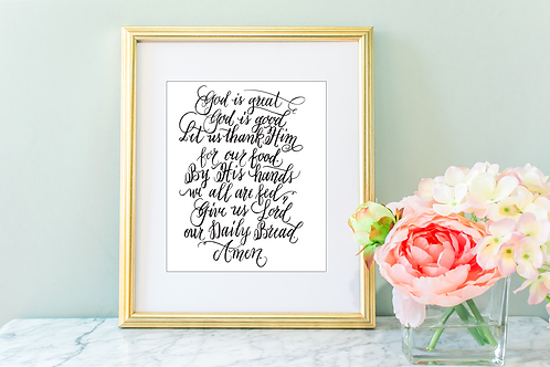 God is Great Printable