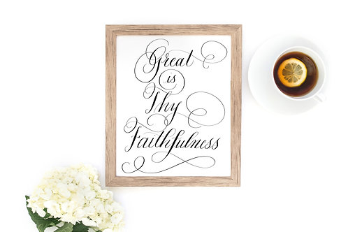 Great is Thy Faithfulness Printable