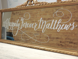 How To Get Yourself A Mirror Calligraphy Sign