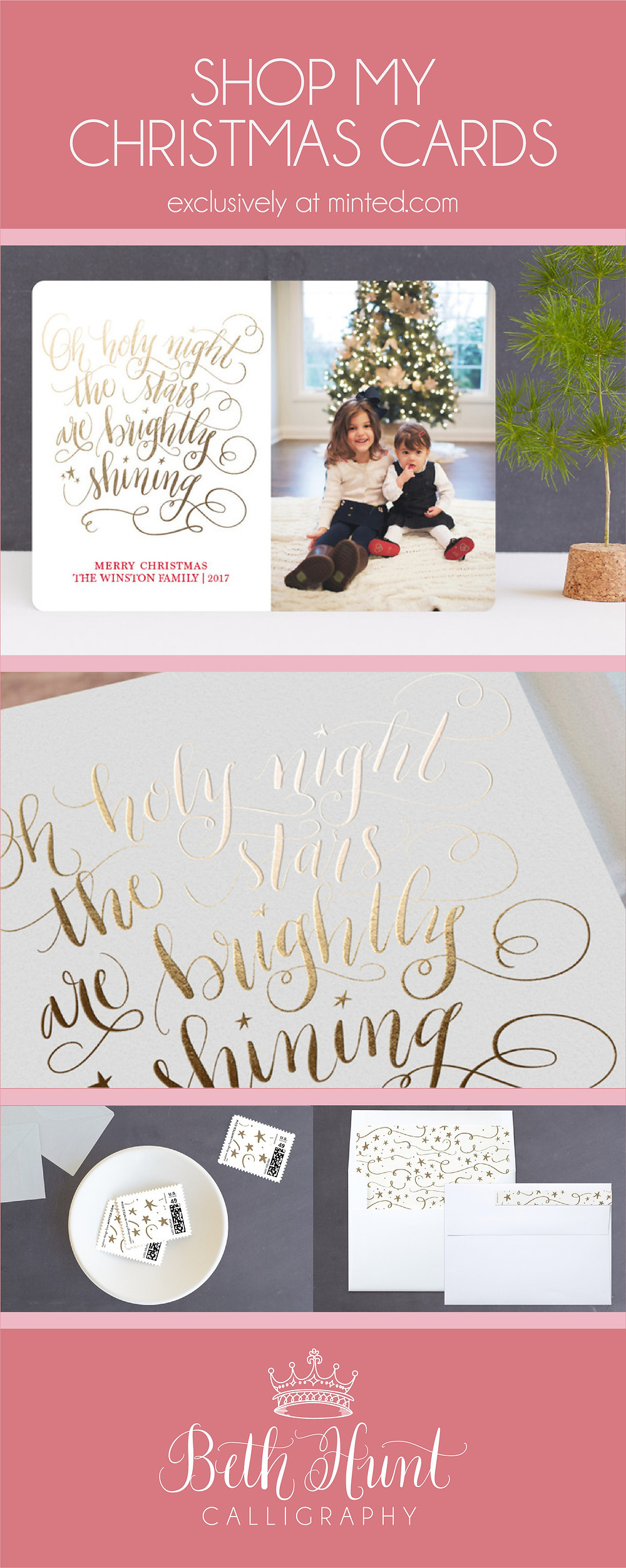 Christmas card designs by Beth Hunt Calligraphy on Minted!