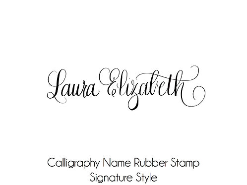 Calligraphy Name Personalized Stamp