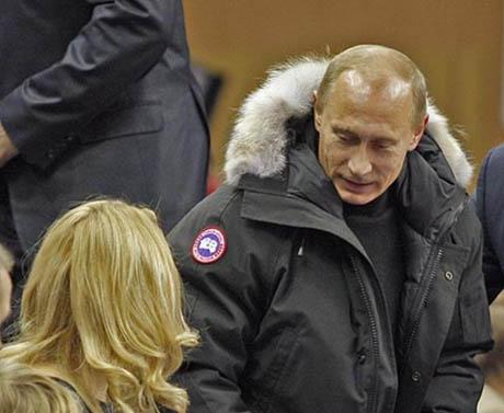 Владимир Путин в Canada Goose