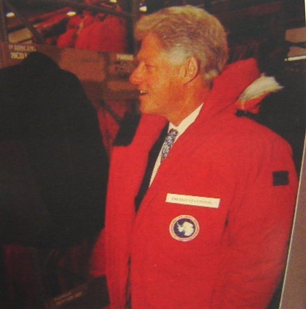 Билл Клинтон в  Canada Goose