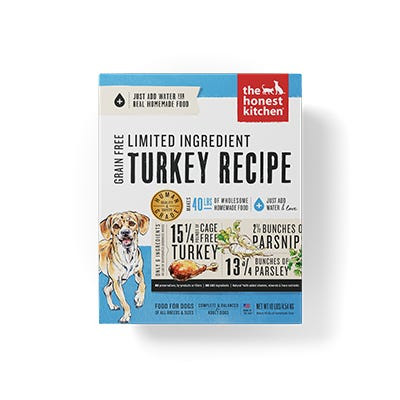 Honest Kitchen LID Turkey Recipe