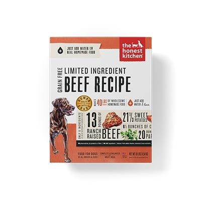 Honest Kitchen LID Beef Recipe