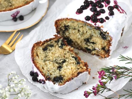 Kokos Blaubeer Kuchen