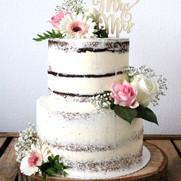 Mr & Mrs Flowerpower Nakedcake