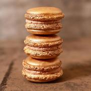 Vergoldete Macarons