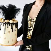 20s Golden Bling Bling Dripcake