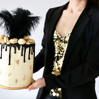 20s Golden Bling Bling Dripcake