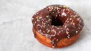 Vanilla Chocolate Sprinkle Donuts