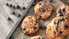 Blaubeer-Krokant Kekse